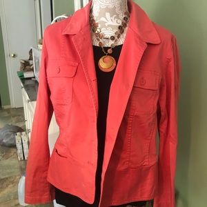 Beautiful coral colored Talbots jacket 16